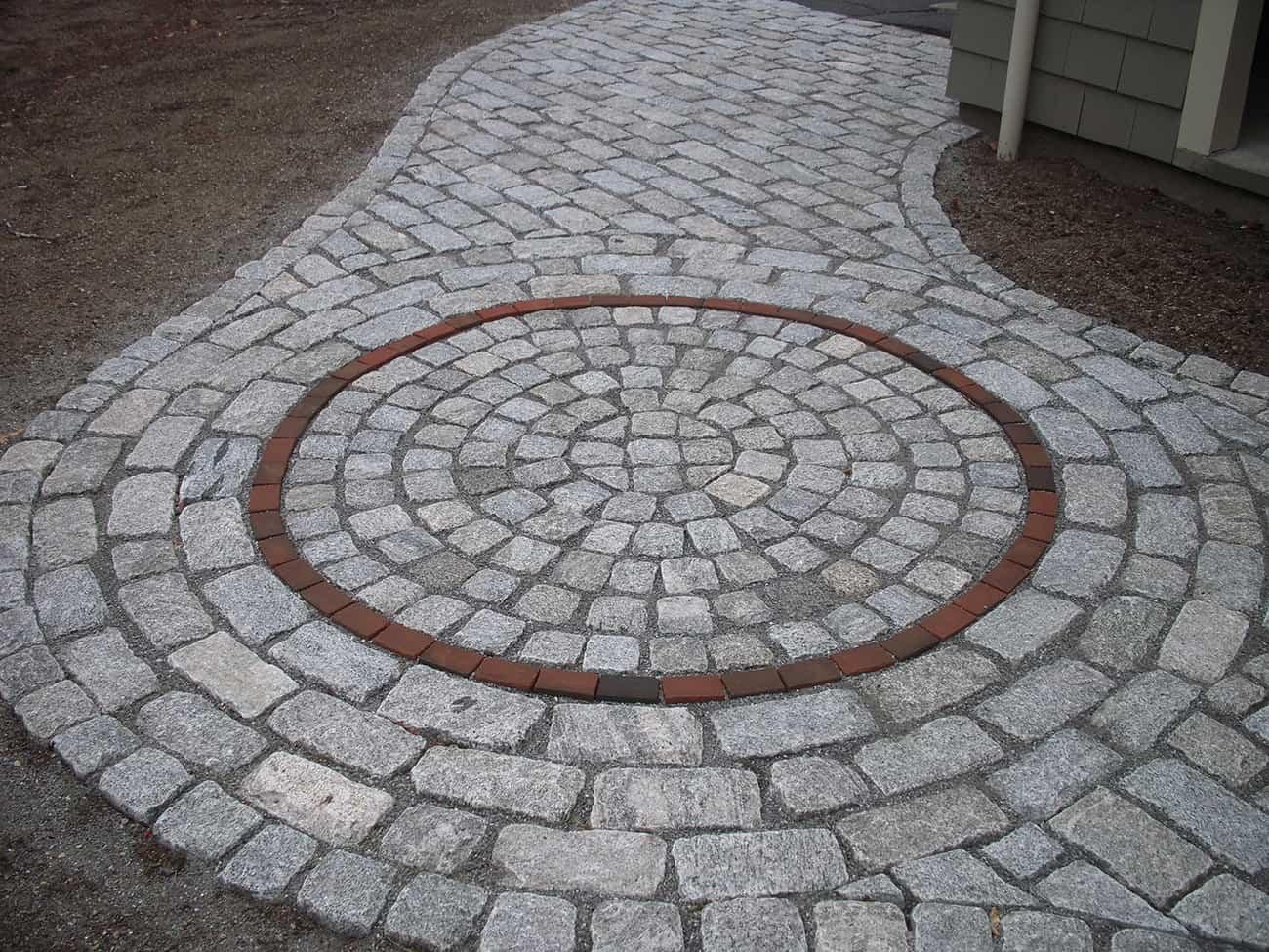 Circular patio area