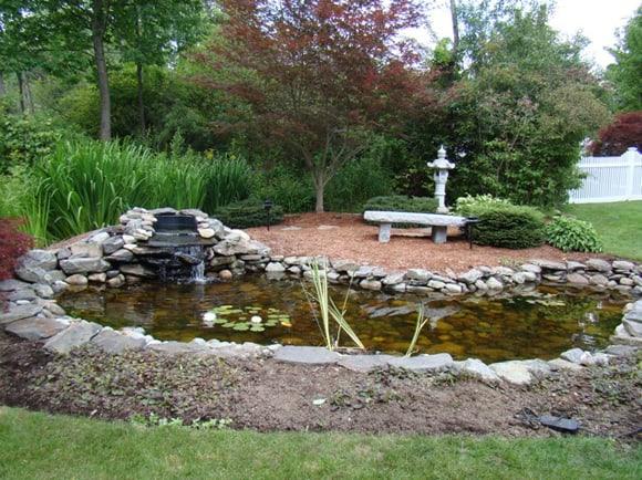 Backyard Reflecting Pond made of Stone